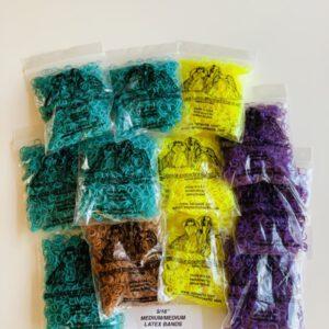 Lateksilenksut,  pieni pussi n. 200 kpl (medium/medium)